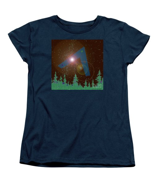 Women's T-Shirt (Standard Cut) featuring the painting Phoenix Lights Ufo by James Williamson