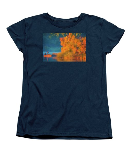 Women's T-Shirt (Standard Cut) featuring the photograph Photographing The Sunrise by Marc Crumpler