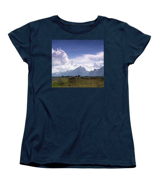 Women's T-Shirt (Standard Cut) featuring the photograph Photographing The Tetons by Dawn Romine