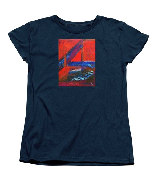 Piano In The Red Room Women's T-Shirt (Standard Cut) by Walter Fahmy
