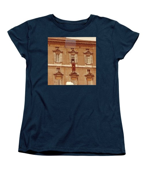 Piazza San Pietro-popes Window Women's T-Shirt (Standard Cut) by Jay Milo