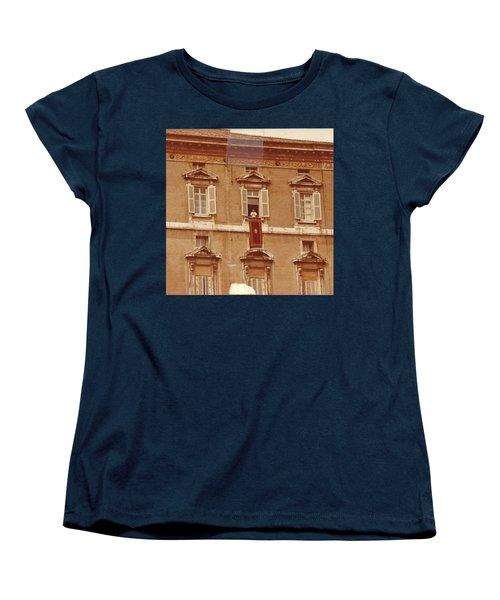 Piazza San Pietro-popes Window Women's T-Shirt (Standard Cut)