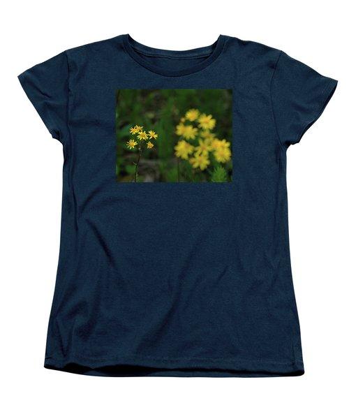 Women's T-Shirt (Standard Cut) featuring the photograph Pick Me Daisies by LeeAnn McLaneGoetz McLaneGoetzStudioLLCcom