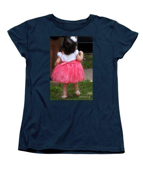 Pick Me Up Women's T-Shirt (Standard Cut) by Joan Bertucci