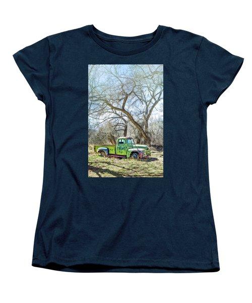 Pickup Under A Tree Women's T-Shirt (Standard Cut) by Robert FERD Frank