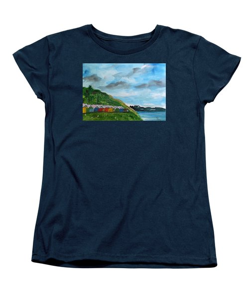 Picture Postcard View Of Scarborough Women's T-Shirt (Standard Cut) by Carole Robins