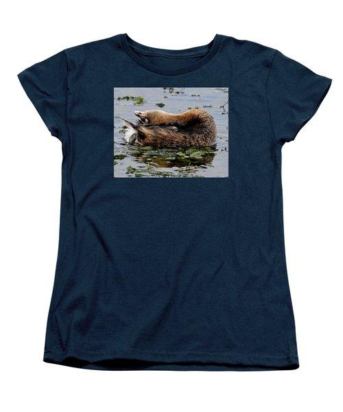Pied-billed Grebe Spreading Oil Women's T-Shirt (Standard Cut)