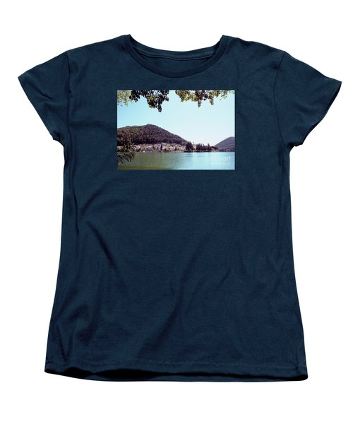 Piediluco And Piediluco Lake Women's T-Shirt (Standard Cut) by Fabrizio Ruggeri