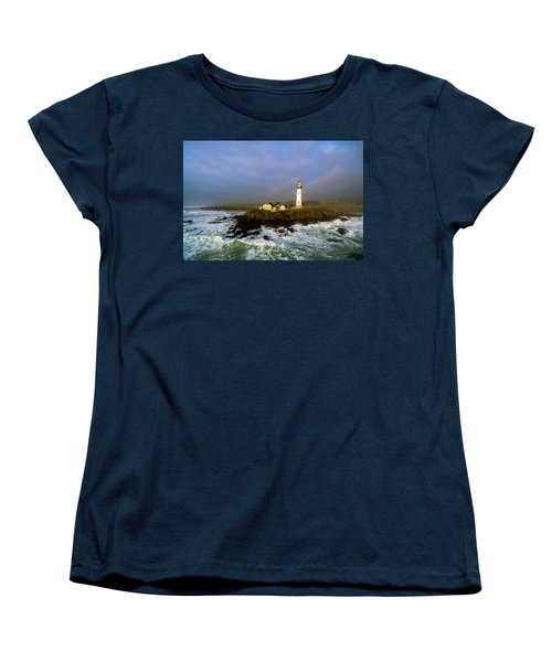Pigeon Point Lighthouse Women's T-Shirt (Standard Cut) by Evgeny Vasenev