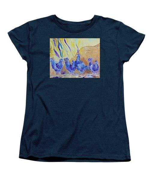 Pigeons Women's T-Shirt (Standard Cut) by AmaS Art