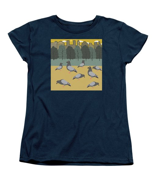 Pigeons Day Out Women's T-Shirt (Standard Cut) by Nicole Wilson
