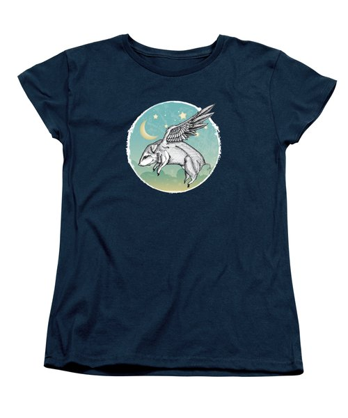 Pigs Fly - 2 Women's T-Shirt (Standard Cut) by Mary Machare