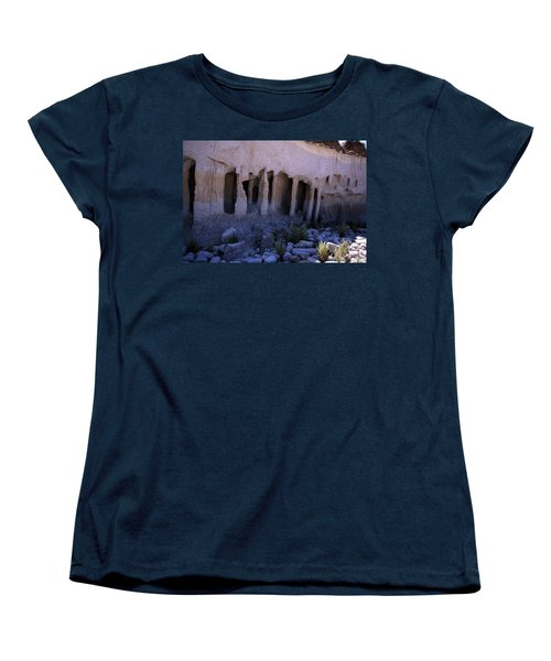 Pillars And Caves, Crowley Lake Women's T-Shirt (Standard Cut) by Michael Courtney