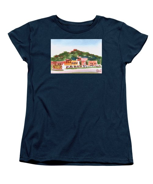 Women's T-Shirt (Standard Cut) featuring the painting Pilot Knob Mountain W402 by Kip DeVore