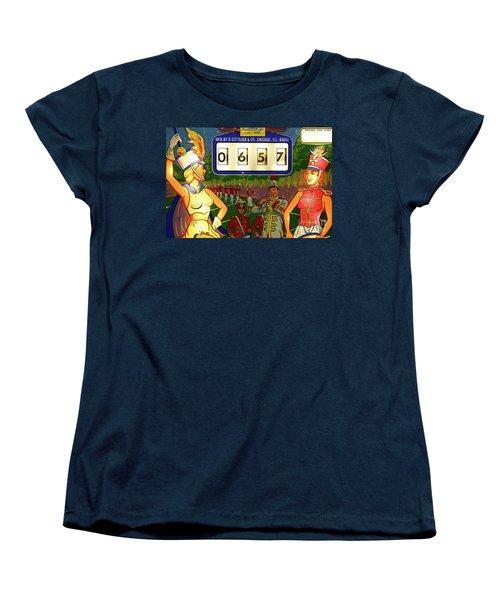 Women's T-Shirt (Standard Cut) featuring the photograph Pinball Art - Majorettes by Colleen Kammerer