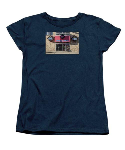 Pinball Pete's East Lansing  Women's T-Shirt (Standard Cut) by John McGraw
