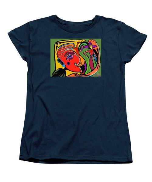 Pinching The Bird Women's T-Shirt (Standard Cut) by Hans Magden