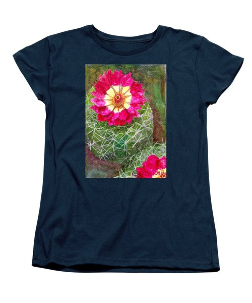 Women's T-Shirt (Standard Cut) featuring the painting Pincushion Cactus by Eric Samuelson