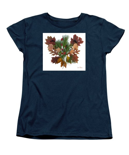 Pine And Leaf Bouquet Women's T-Shirt (Standard Cut) by Lise Winne