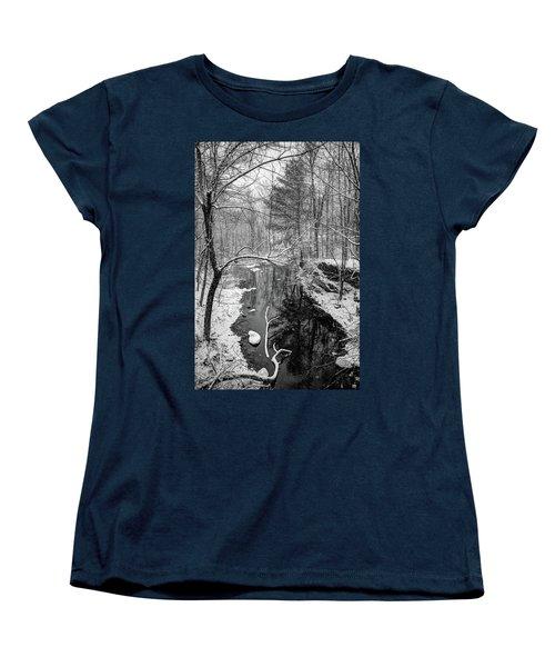 Pine Reflection On The Sheepscot Women's T-Shirt (Standard Cut)