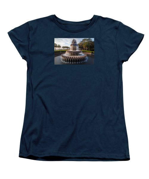 Pineapple Fountain Charleston Sunrise Women's T-Shirt (Standard Cut)