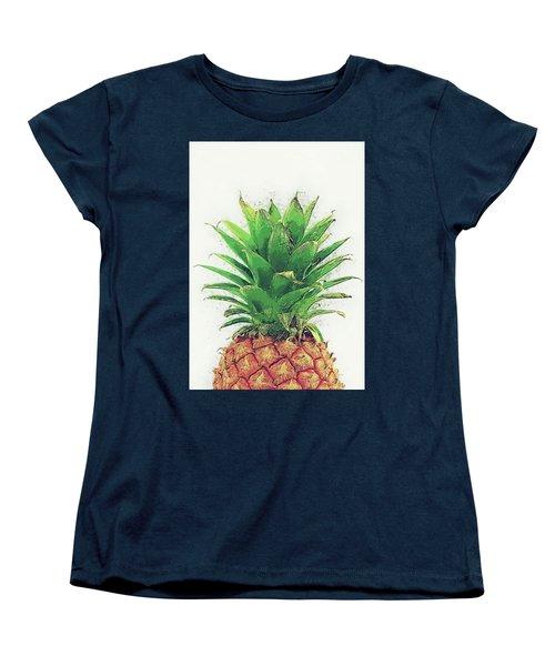 Pineapple Women's T-Shirt (Standard Cut) by Taylan Apukovska