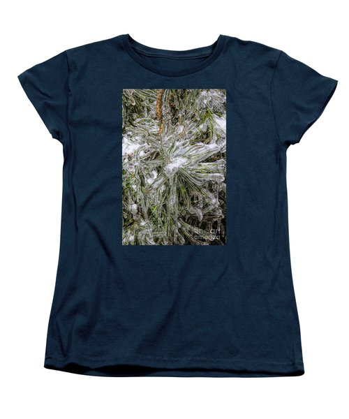 Women's T-Shirt (Standard Cut) featuring the photograph Pinecicles by Barbara Bowen