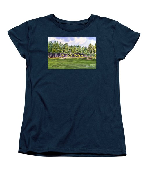 Pinehurst Golf Course 17th Hole Women's T-Shirt (Standard Cut) by Bill Holkham