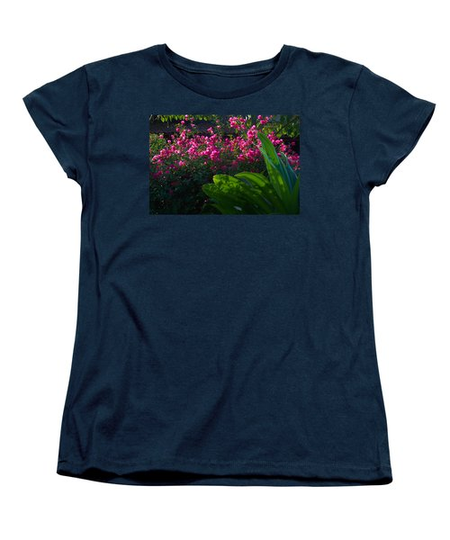 Women's T-Shirt (Standard Cut) featuring the photograph Pink And Green by Jim Walls PhotoArtist