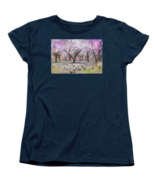 Women's T-Shirt (Standard Cut) featuring the photograph Pink And White Spring Blossoms - Boston Common by Joann Vitali