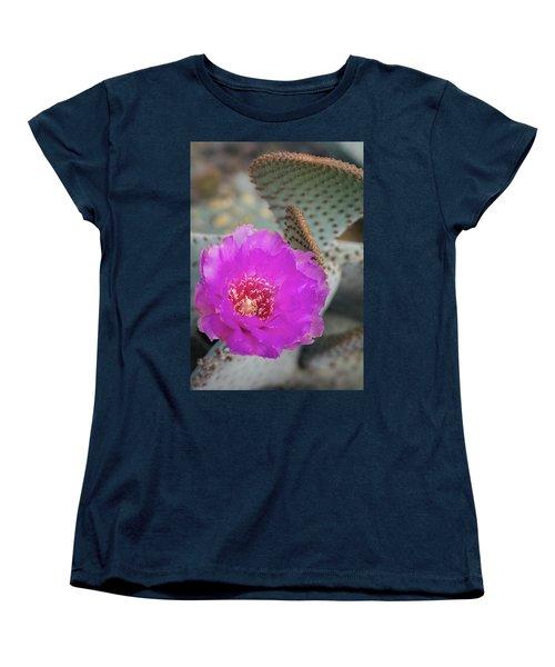 Women's T-Shirt (Standard Cut) featuring the photograph Pink Beavertail Cactus  by Saija Lehtonen