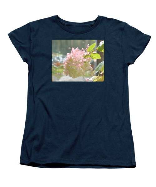 Pink Bloom In Sun Women's T-Shirt (Standard Cut) by Christina Verdgeline