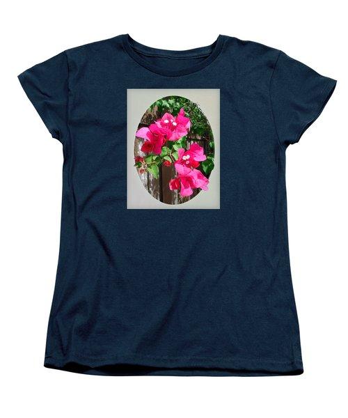 Women's T-Shirt (Standard Cut) featuring the photograph Pink Bougainvillea by Ginny Schmidt