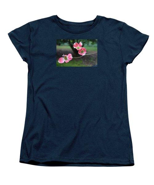 Women's T-Shirt (Standard Cut) featuring the photograph Pink Dogwood by Linda Geiger