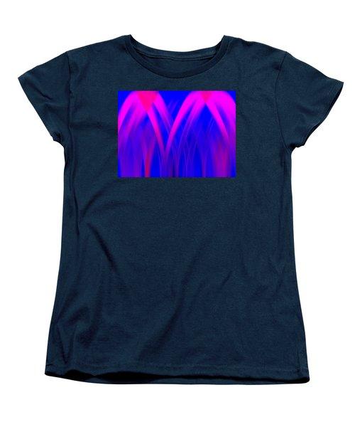 Women's T-Shirt (Standard Cut) featuring the digital art Pink Lacing by Carolyn Marshall