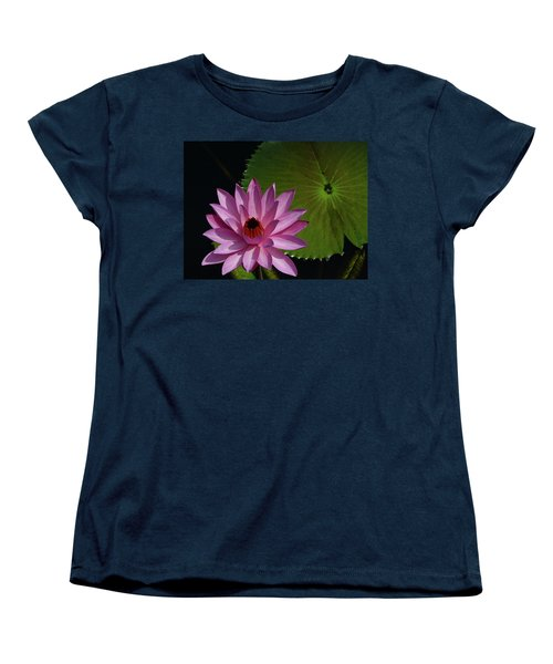 Pink Lotus Women's T-Shirt (Standard Cut) by Evelyn Tambour