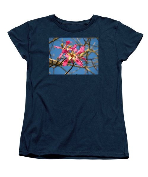 Women's T-Shirt (Standard Cut) featuring the photograph Pink Orchid Tree by Carla Parris