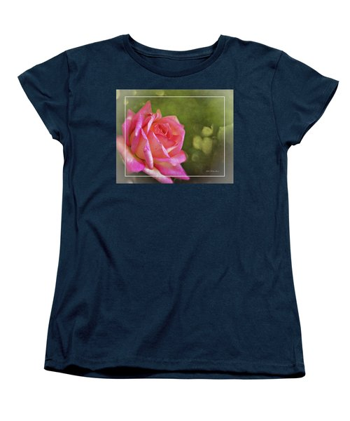 Pink Rose Dream Digital Art 3 Women's T-Shirt (Standard Cut) by Walter Herrit