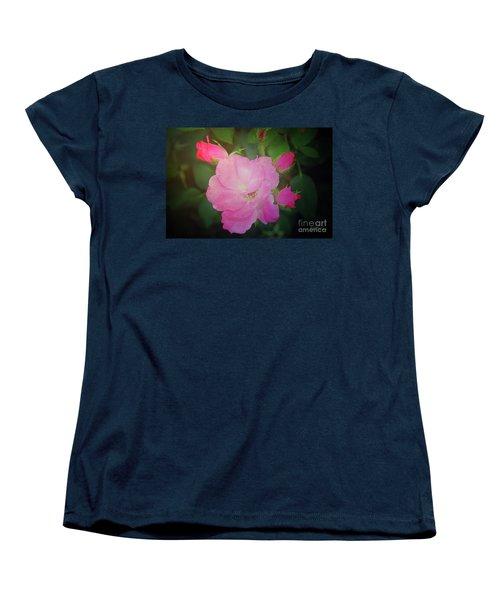 Pink Roses  Women's T-Shirt (Standard Cut) by Inspirational Photo Creations Audrey Woods