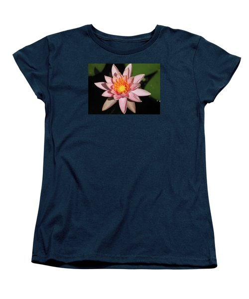 Pink Water Lily 2016 Women's T-Shirt (Standard Cut) by Suzanne Gaff