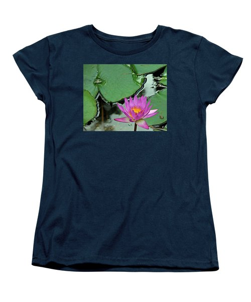 Women's T-Shirt (Standard Cut) featuring the photograph Pink Water Lily by Judy Vincent