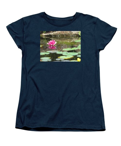 Pink Waterlilly  Women's T-Shirt (Standard Cut) by Laurianna Taylor
