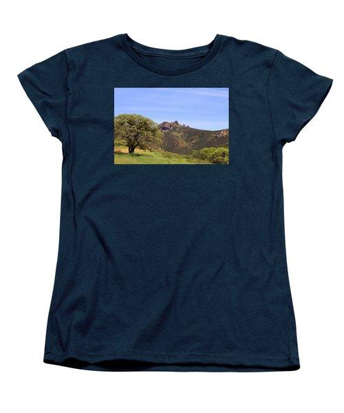 Women's T-Shirt (Standard Cut) featuring the photograph Pinnacles Vista by Art Block Collections