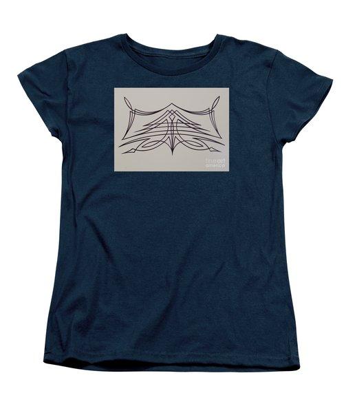 Pinstripe Black On White Women's T-Shirt (Standard Cut) by Alan Johnson
