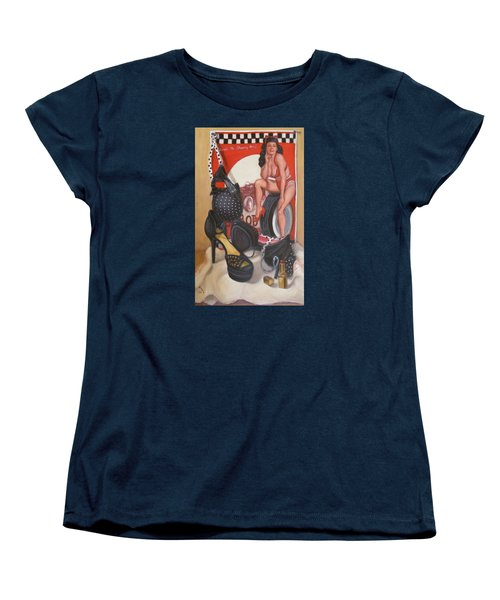 Women's T-Shirt (Standard Cut) featuring the painting Pinup #1 by Donelli  DiMaria