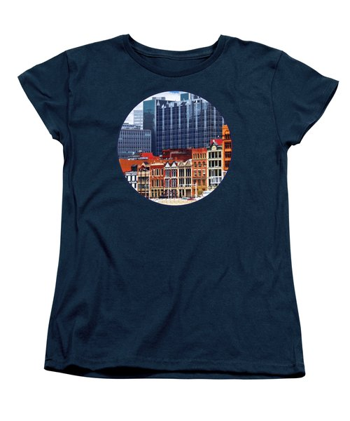 Pittsburgh Pa Skyline Closeup Women's T-Shirt (Standard Cut) by Susan Savad
