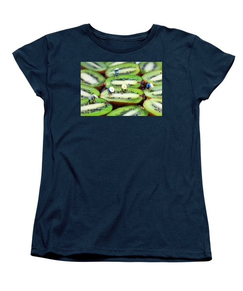 Planting Rice On Kiwifruit Women's T-Shirt (Standard Cut) by Paul Ge