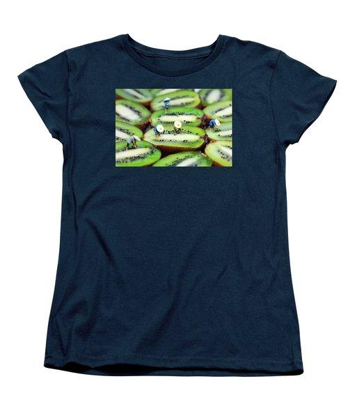 Planting Rice On Kiwifruit Women's T-Shirt (Standard Cut) by Paul Ge