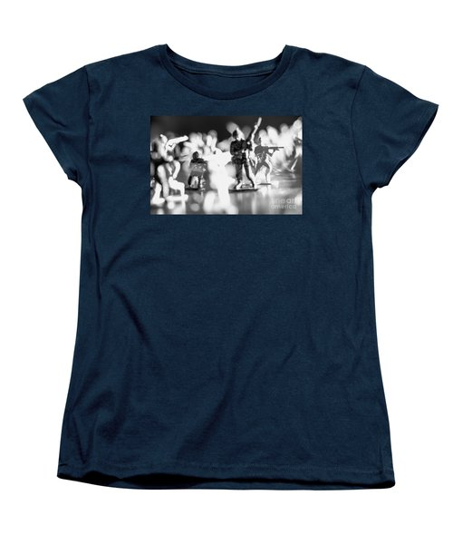 Women's T-Shirt (Standard Cut) featuring the photograph Plastic Army Men 2 by Micah May