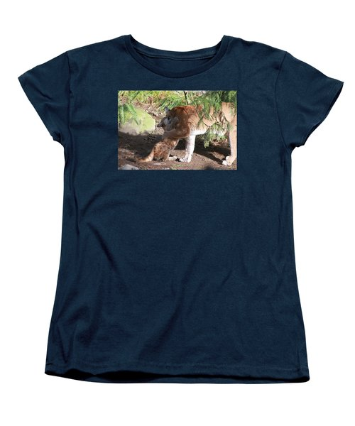 Women's T-Shirt (Standard Cut) featuring the photograph Playful Hugs by Laddie Halupa